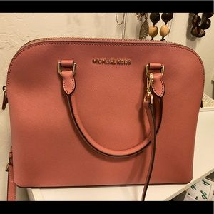 Large pink Michael Kors Cindy dome purse